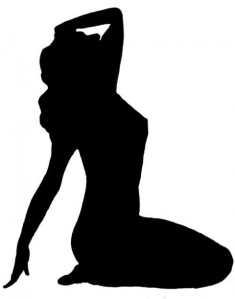 Female silhouette.